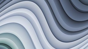 Smoky Blue 3d Abstract Curves Background Illustration stock photos