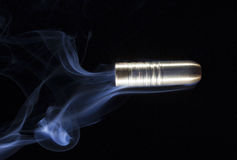 Smoky bullet Stock Photography