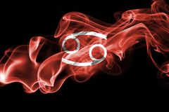 Smoky Cancer zodiac astrology sign for horoscope. Isolated on a black background Stock Photography