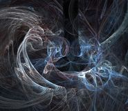 Smoky chaos. Digitally rendered fractal pattern Royalty Free Stock Photo