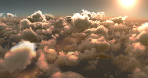 Smoky clouds and bright sun stock video