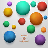 Smoky colored 3D sphere. Abstract merry colorful vector background Stock Images