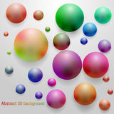 Smoky colored glossy 3D sphere. Abstract merry colorful vector background Royalty Free Stock Photography