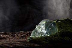 Smoky Crystal Skull Stock Photo