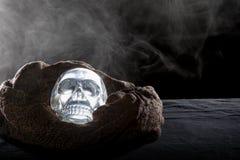 Smoky Crystal Skull Stock Photos