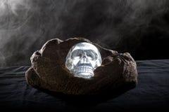 Smoky Crystal Skull stock photography