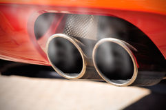 Smoky Exhaust Pipe Stock Photography