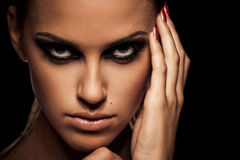 Smoky eye Royalty Free Stock Photo