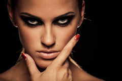 Smoky eye royalty free stock photos