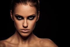 Smoky eye Stock Photography