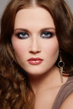 Smoky eyes. Portrait of beautiful young girl with smoky eyes Stock Photography