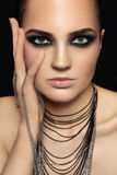 Smoky eyes Stock Photography