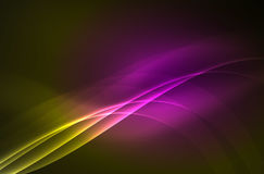 Smoky glowing waves in the dark Stock Photos
