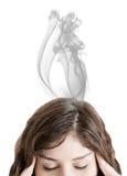 Smoky Headache Royalty Free Stock Photos