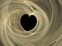 Smoky heart. Valentines heart shape, delicate smoky shape over black background Royalty Free Stock Photo