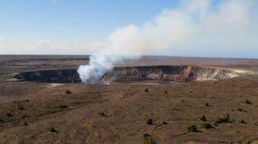Smoky Kilauea Royalty Free Stock Images