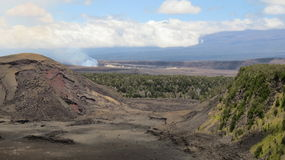 Smoky Kilauea Royalty Free Stock Images