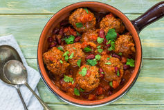 Smoky Mexican meatball stew Stock Photography