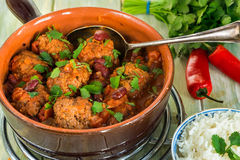 Smoky Mexican meatball stew Royalty Free Stock Photography