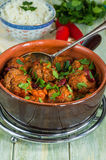 Smoky Mexican meatball stew Stock Images