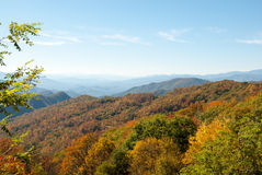 Smoky Mountain Fall Panorama II Royalty Free Stock Photo