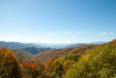 Smoky Mountain Fall Panorama Stock Photo