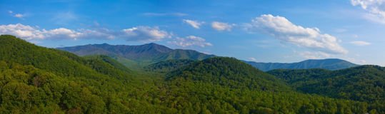 Smoky mountain panorama Royalty Free Stock Photo