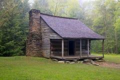 Smoky Mountain Rustic Cabin. A beautiful cabin rustic in Smoky mountain National Park Stock Image
