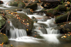 Smoky Mountain Stream. Flowing Water in Smoky Mountain Stream near Gatlinburg Tennessee Royalty Free Stock Images
