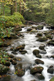 Smoky Mountain Stream. Flowing Water in Smoky Mountain Stream near Gatlinburg Tennessee Stock Photo