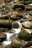 Smoky Mountain Stream. Flowing Water in Smoky Mountain Stream near Gatlinburg Tennessee Royalty Free Stock Image