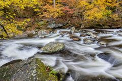 Smoky Mountain Stream in Autumn royalty free stock photography