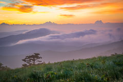 Smoky Mountain Sunrise Royalty Free Stock Images