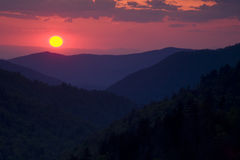 Smoky Mountain Sunset Stock Photography