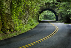 Smoky Mountain Tunnel In Springtime Green Royalty Free Stock Photo