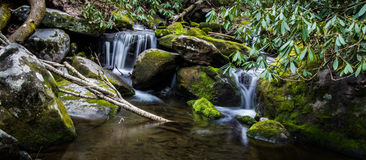 Smoky Mountain Waterfall Panorama stock image