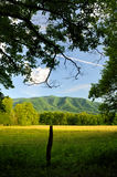 Smoky Mountains Cades Cove in Late Spring. A scenic view of Cades Cove in Great Smoky Mountains National Park, Tennessee, USA Stock Photos
