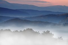 Smoky Mountains in the Fall Royalty Free Stock Photos