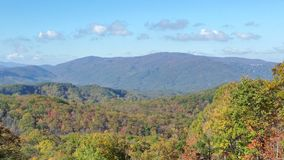 Smoky mountains. Fall Vista roaring fork Royalty Free Stock Photos