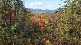 Smoky mountains. Fall Vista roaring fork Royalty Free Stock Image