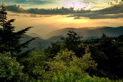 Smoky Mountains Heaven Royalty Free Stock Image