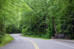 Smoky Mountains National Park Entrance Stock Image