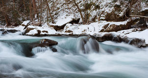 Smoky Mountains National Park, winter stream view Royalty Free Stock Image