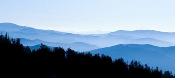 Smoky Mountains Panoramic Stock Images