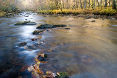 Smoky Mountains river in fall Stock Photo