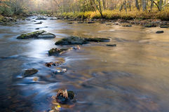 Smoky Mountains river in fall Royalty Free Stock Photo