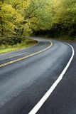 Smoky Mountains Road in Early Autumn Royalty Free Stock Photo