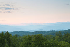 Smoky mountains sunset Stock Images