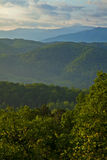 Smoky Mountains Sunset. Picture of Smoky mountains range in TN, Sunset over the mountains Stock Photography