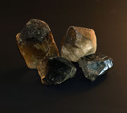 Smoky quartz crystal Stock Photography